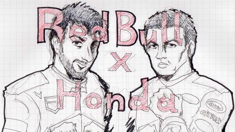 左のリカルドは来年別のチームに行きますが・・Redbull x Hondaは2019年から。