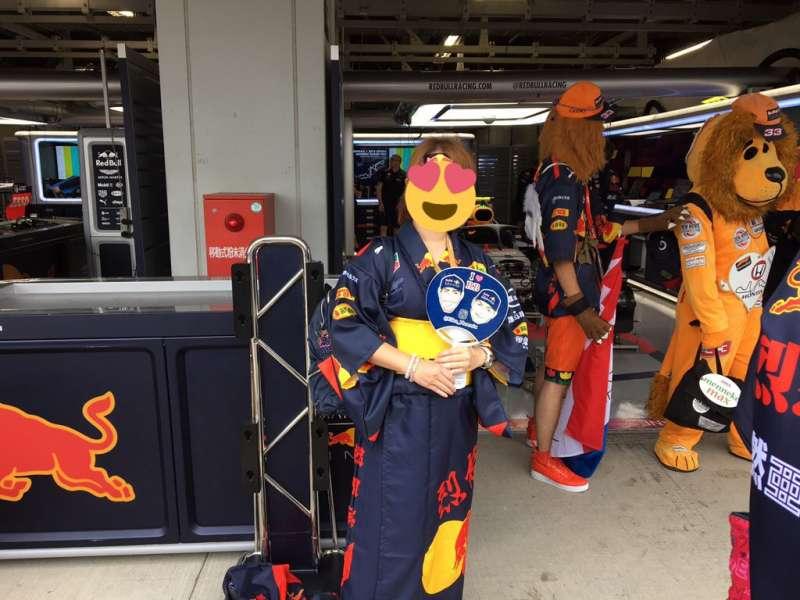 F1日本グランプリ2018:レッドブルピットにて