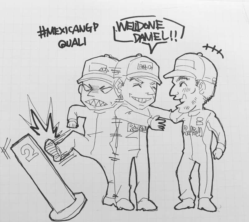 F1メキシコGP2018:レッドブルのリカルドとフェルスタッペン