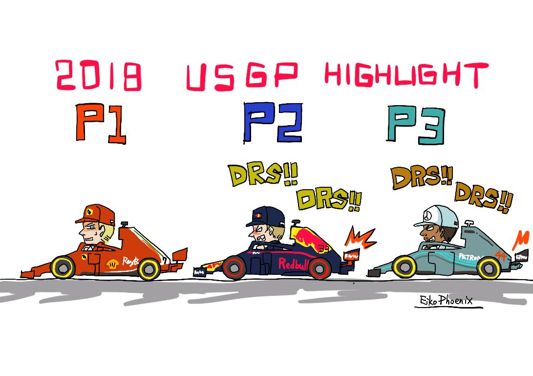 F1アメリカGP、トップ3トレイン