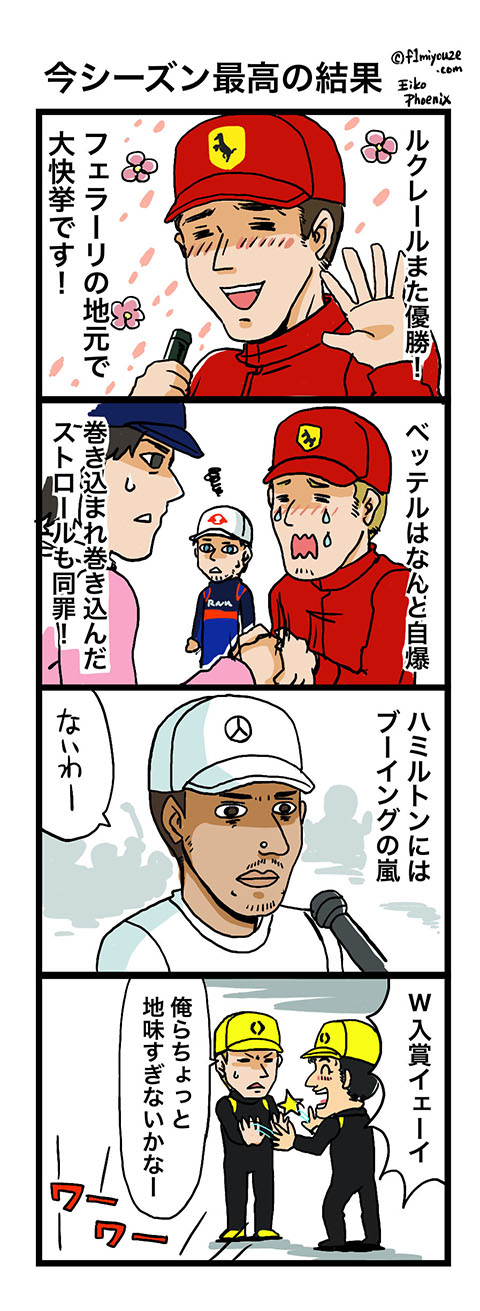 2019イタリアGP F1漫画