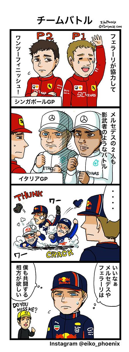 2019シンガポールGP F1漫画