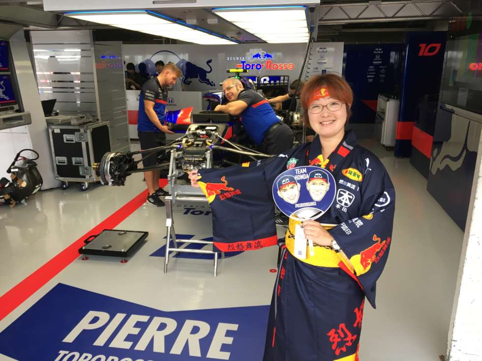 【F1日本GP 2019】トロロッソのピット内にて