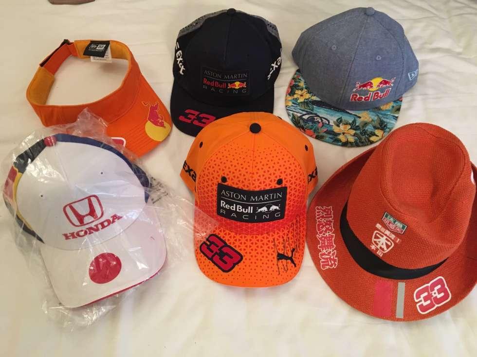 F1日本GPでもらった帽子とか