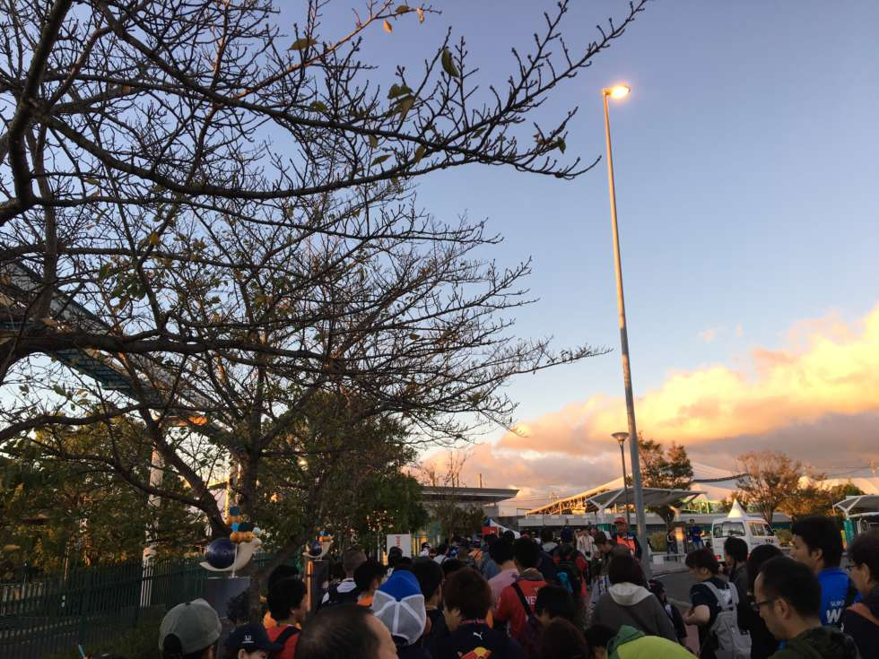 【F1日本GP】開門の45分前(朝6時すぎ)
