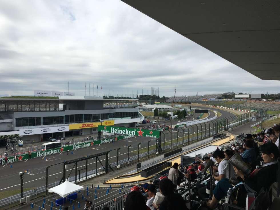 【F1日本GP】グランドスタンドV2からの眺め