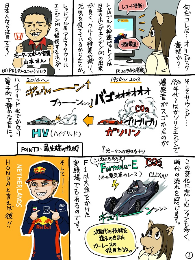 F1初心者向け「F1はじめてマンガ」(6/9)