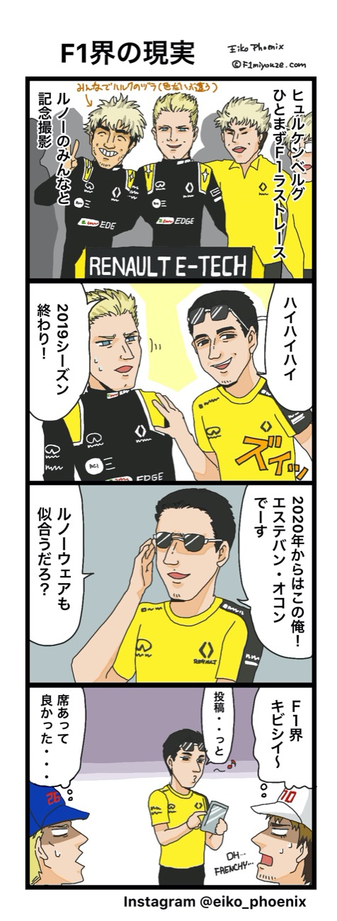 2019アブダビGP F1漫画